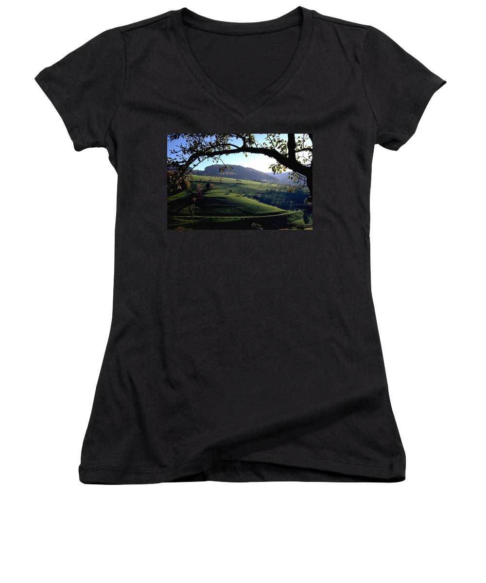 Schwarzwald Women's V-Neck (Athletic Fit) featuring the photograph Schwarzwald by Flavia Westerwelle