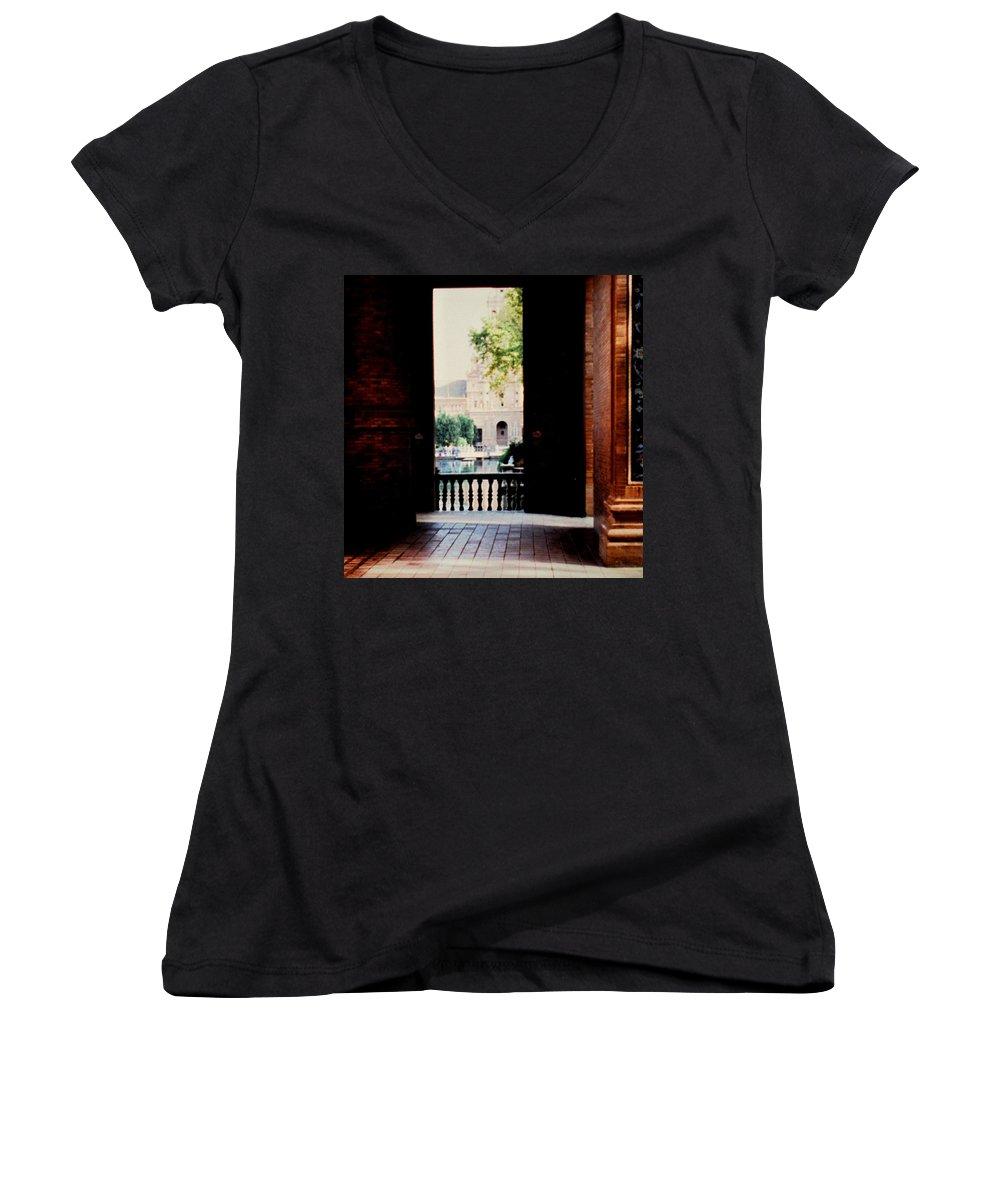 Seville Women's V-Neck T-Shirt featuring the photograph Seville by Ian MacDonald