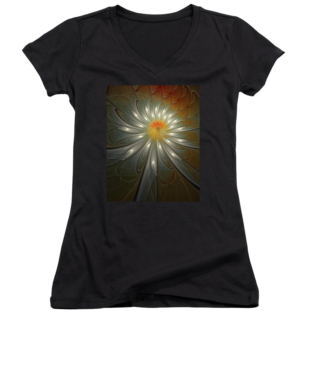 Digital Art Women's V-Neck (Athletic Fit) featuring the digital art Shimmer by Amanda Moore