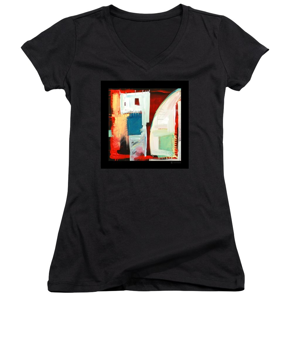 Color Women's V-Neck (Athletic Fit) featuring the painting Smilin by Tim Nyberg