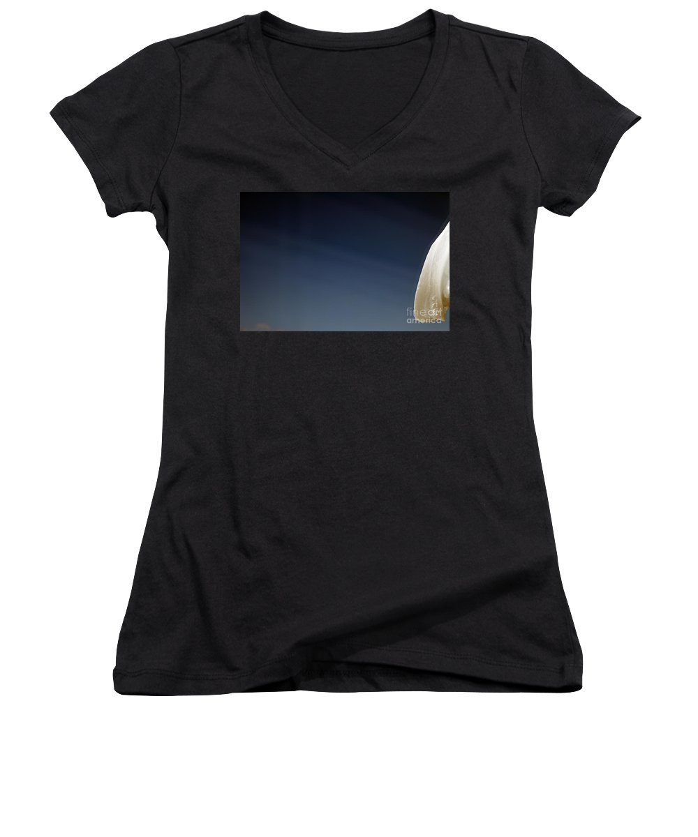 Snow Women's V-Neck (Athletic Fit) featuring the photograph Snow Day by Amanda Barcon