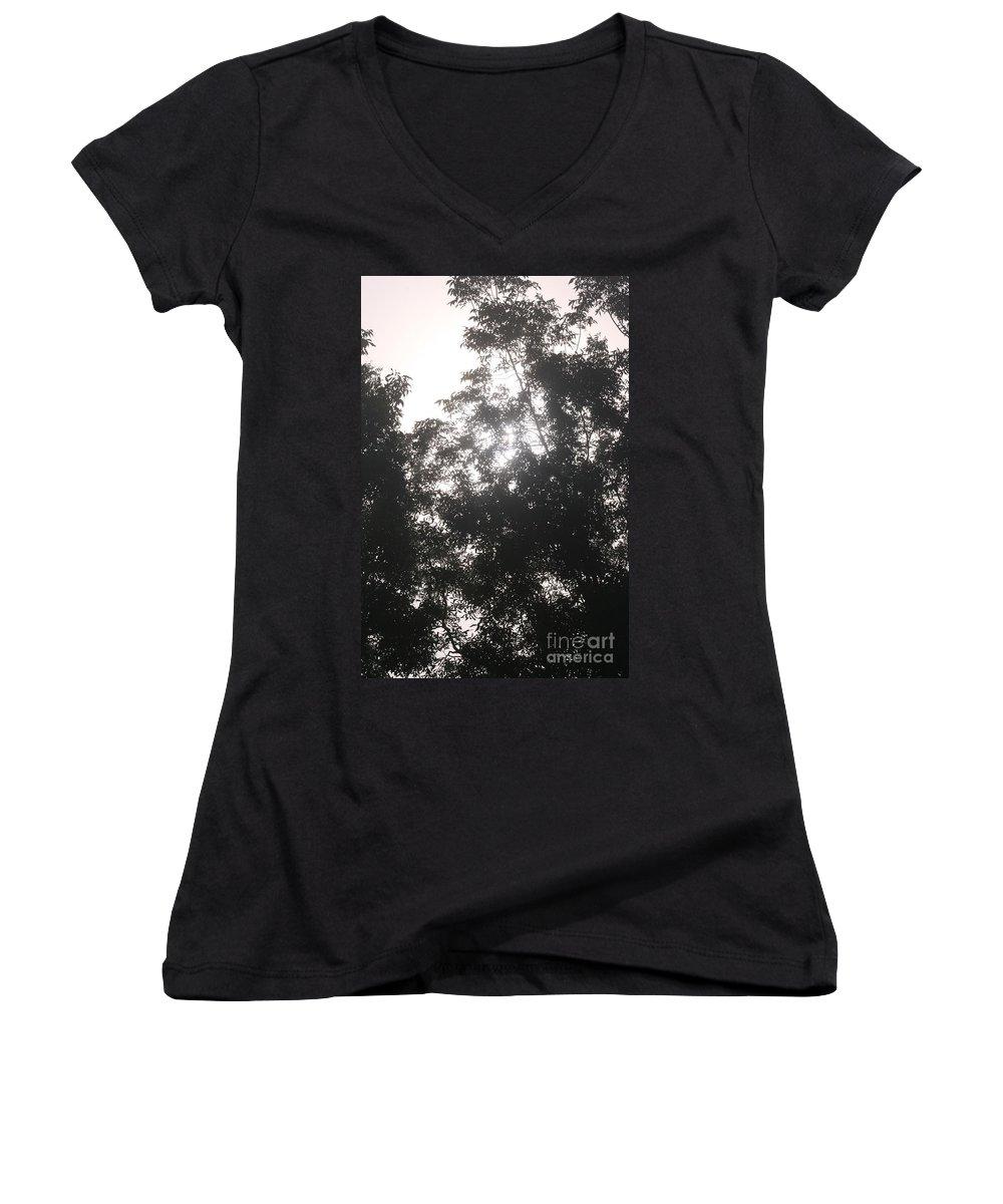 Light Women's V-Neck T-Shirt featuring the photograph Soft Light by Nadine Rippelmeyer