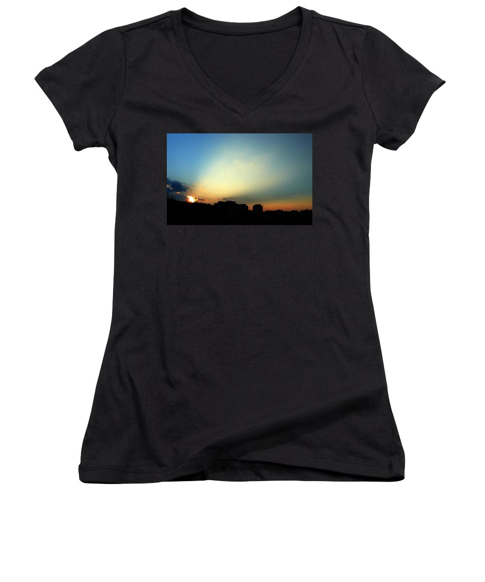Nature Women's V-Neck T-Shirt featuring the photograph Spotlight by Daniel Csoka