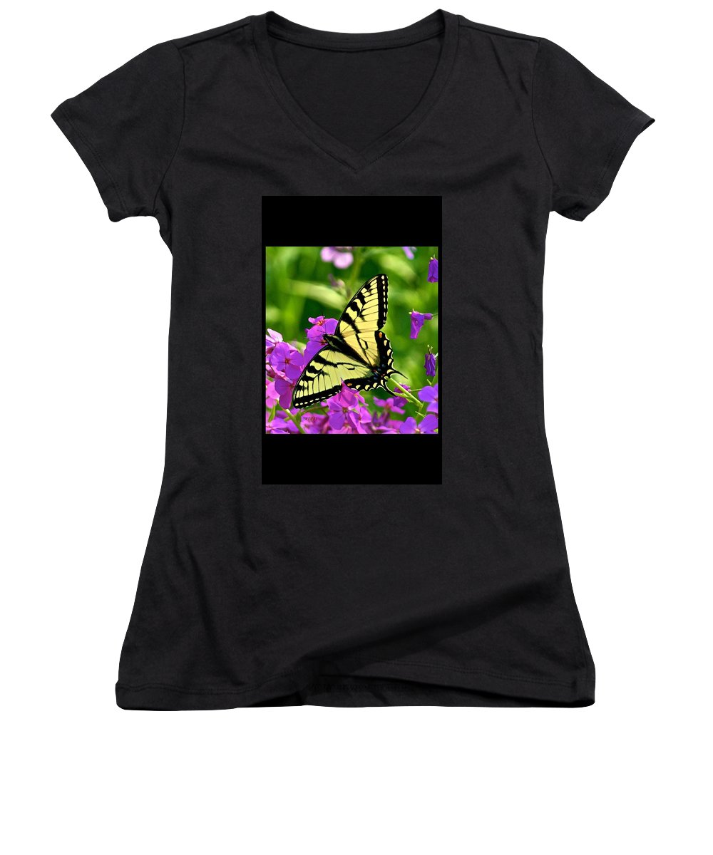 Butterfly Women's V-Neck T-Shirt featuring the photograph Spring Glory by Robert Pearson