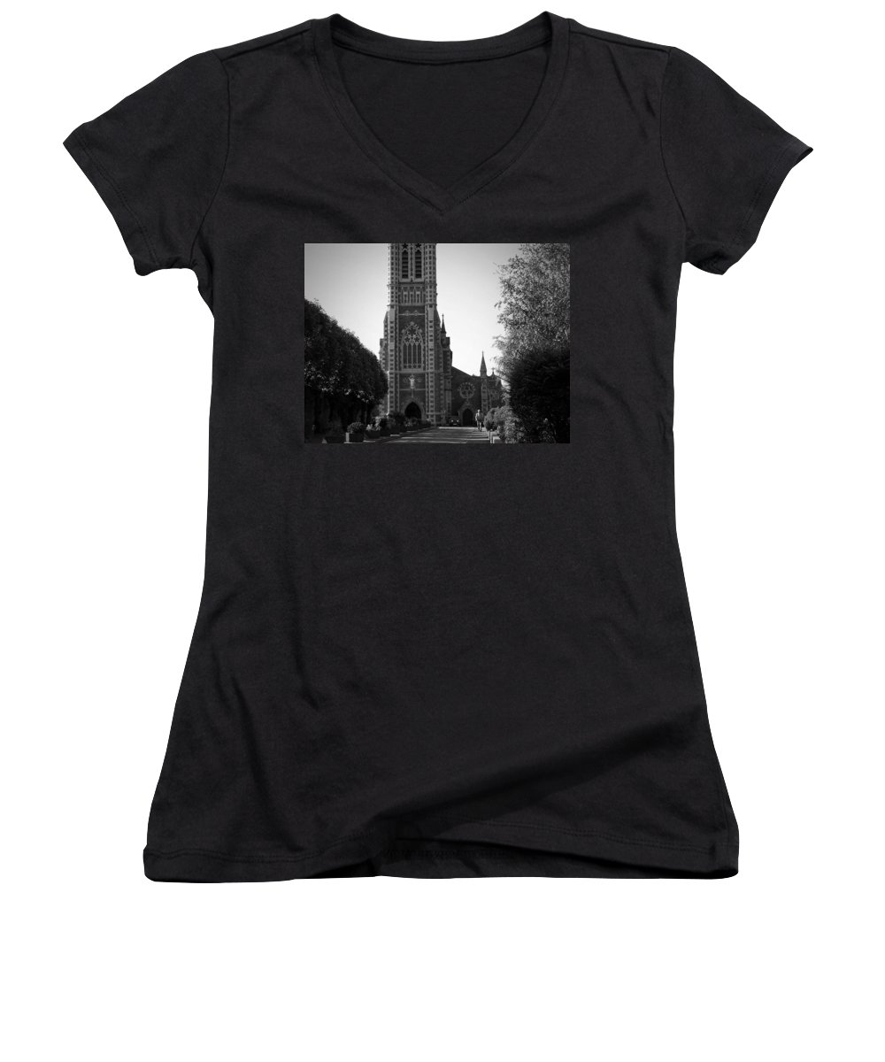 Irish Women's V-Neck (Athletic Fit) featuring the photograph St. John's Church Tralee Ireland by Teresa Mucha