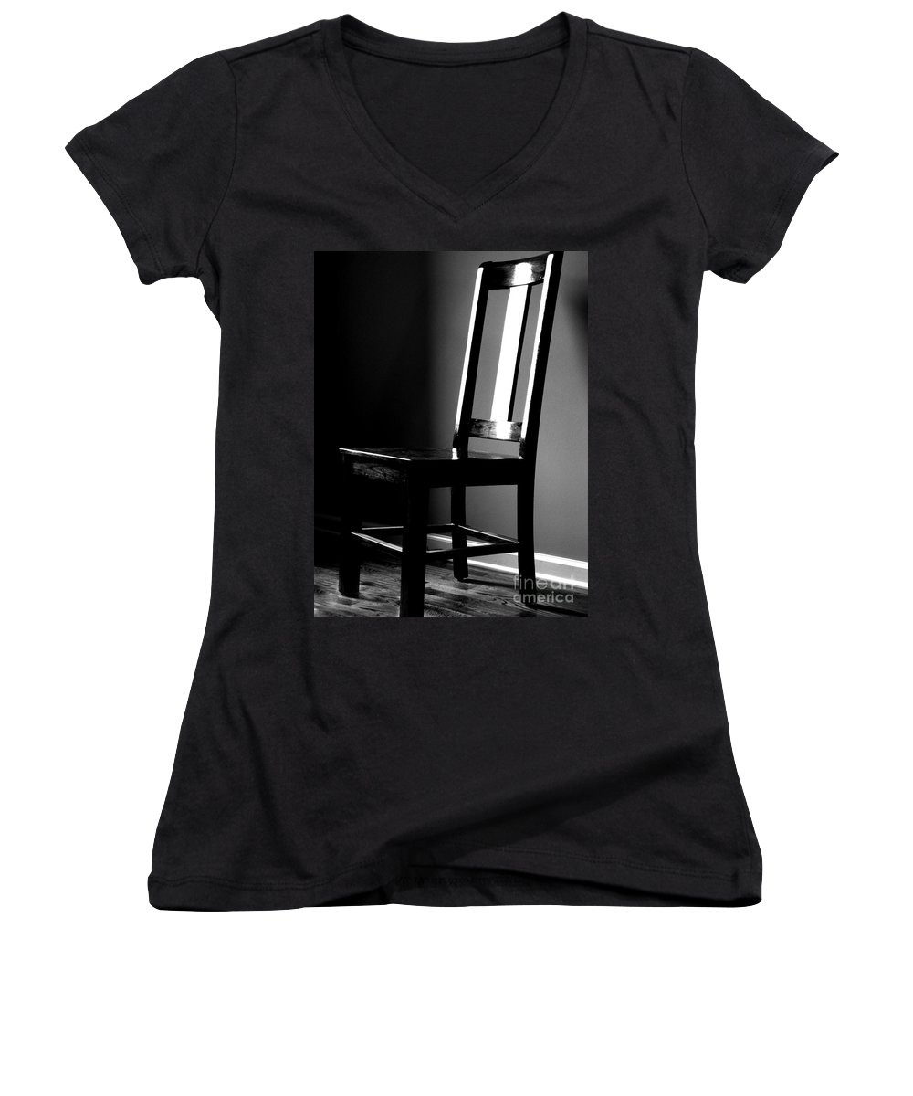 Stillness Women's V-Neck (Athletic Fit) featuring the photograph Still by Amanda Barcon