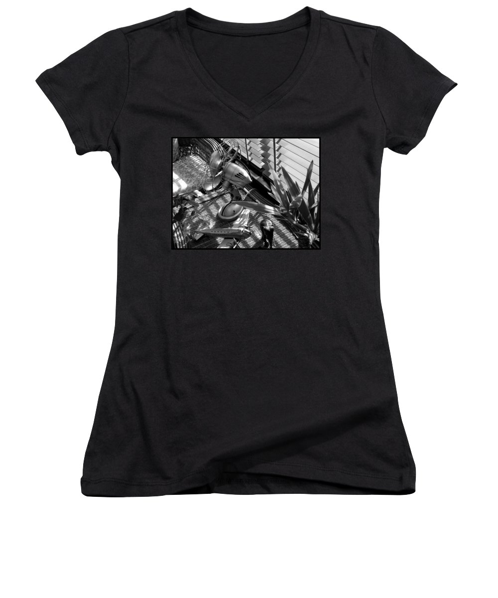 Still Life Women's V-Neck (Athletic Fit) featuring the photograph Suburban Safari by Charles Stuart