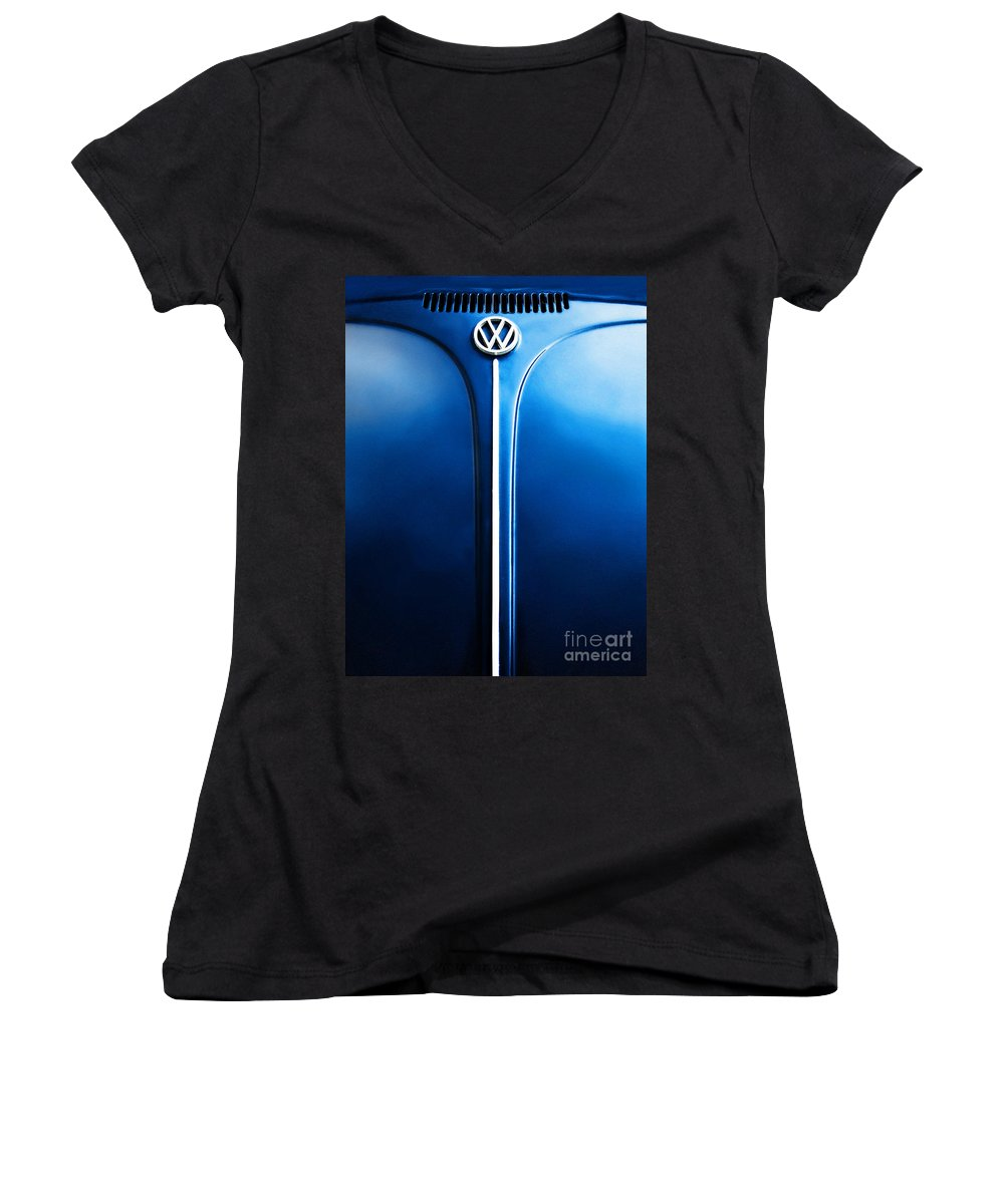 Blue Women's V-Neck (Athletic Fit) featuring the photograph Summer 1976 by Dana DiPasquale
