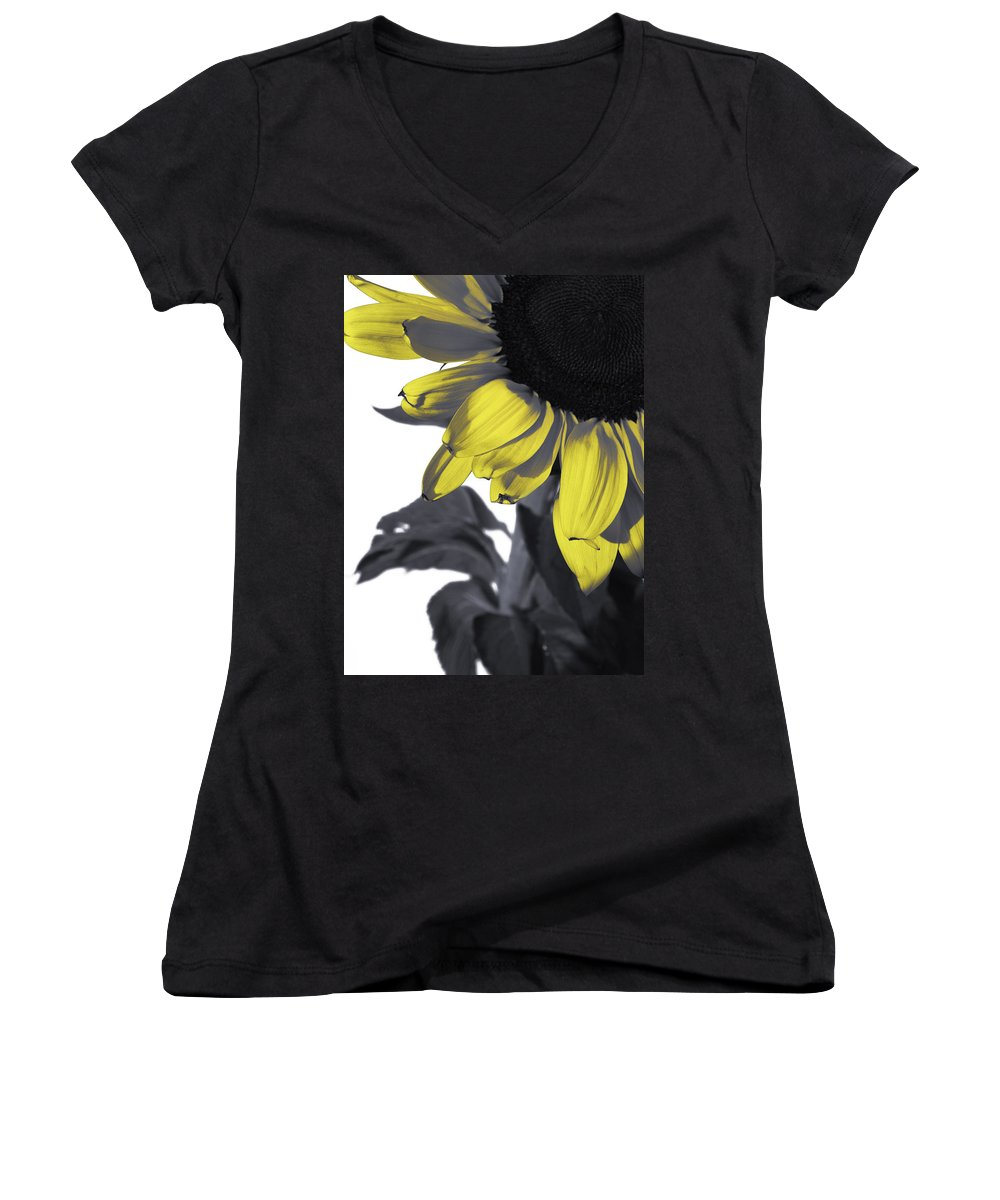 Sunflower Women's V-Neck (Athletic Fit) featuring the photograph Sunflower by Kelly Jade King