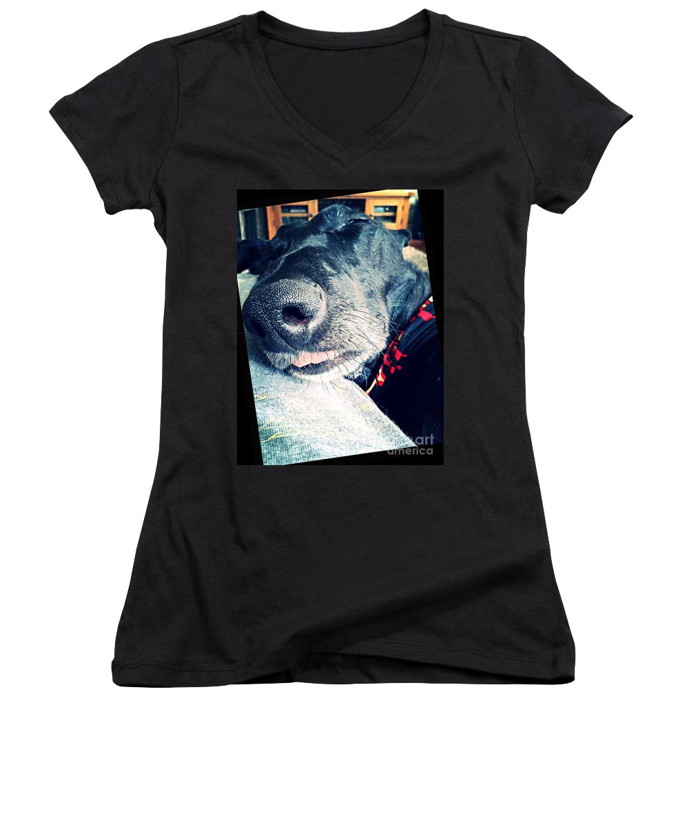 Art Women's V-Neck featuring the photograph Sweet Dreams by Vix Edwards