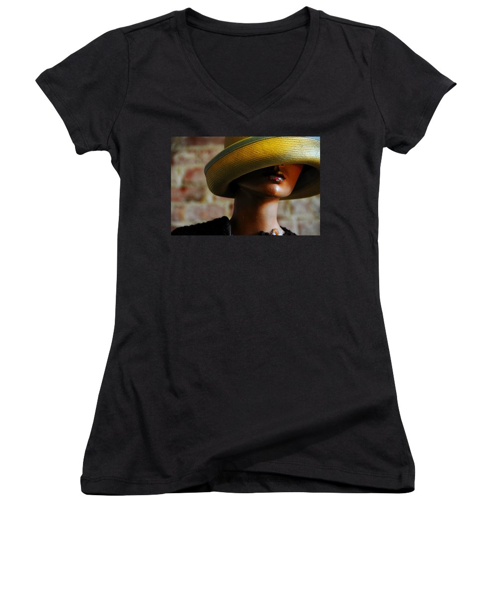 Aged Women's V-Neck (Athletic Fit) featuring the photograph Tel Aviv by Skip Hunt
