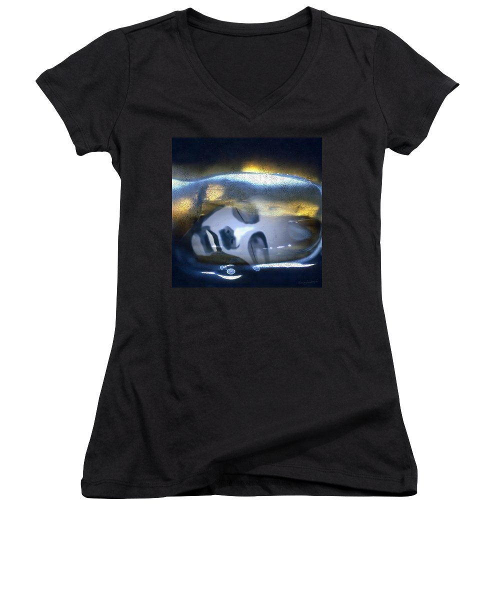 Dream Sky Universe Methaphysics Aura Afterlife Women's V-Neck T-Shirt featuring the digital art The Dream by Veronica Jackson