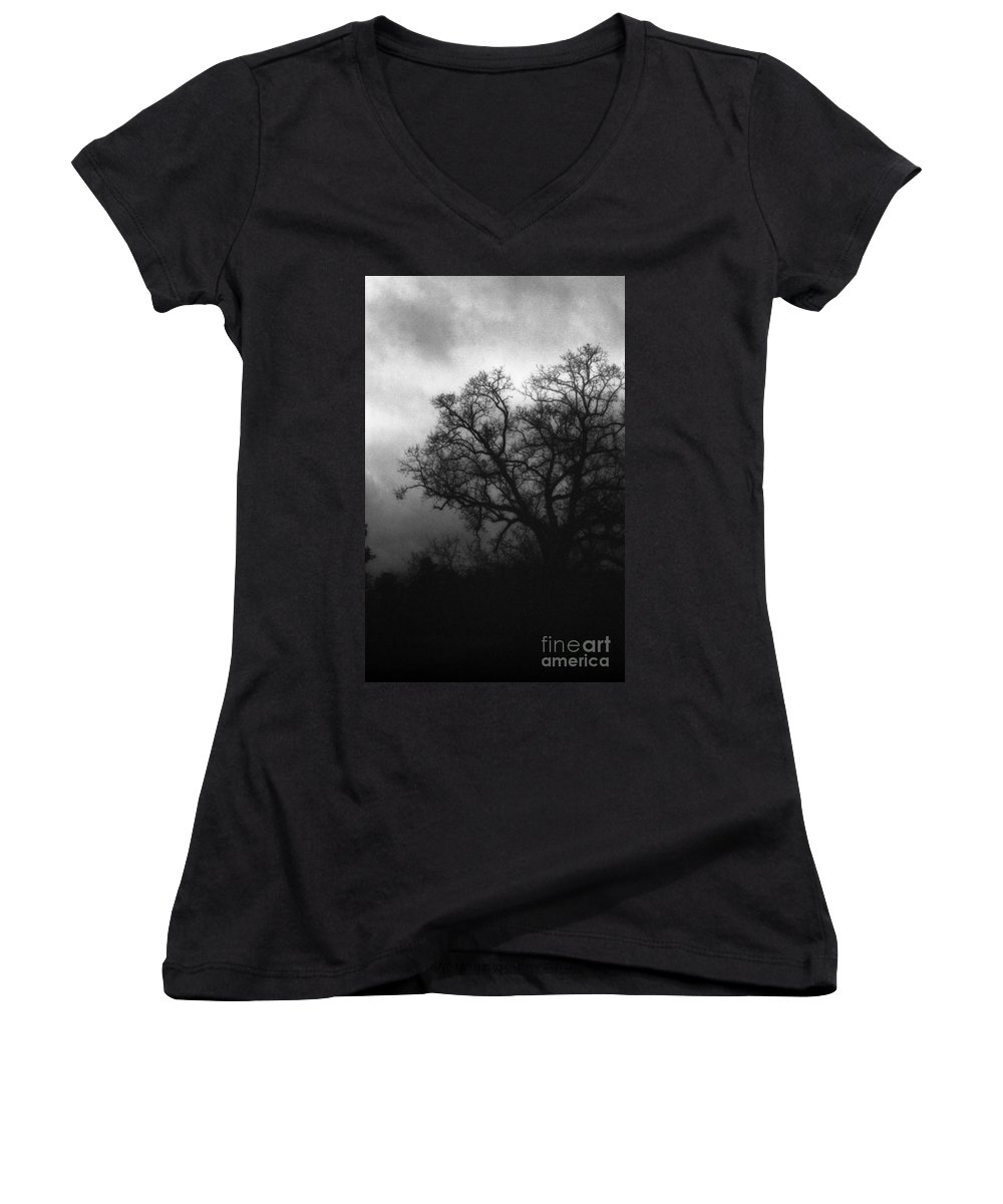 Eerie Women's V-Neck T-Shirt featuring the photograph The Other Side by Richard Rizzo