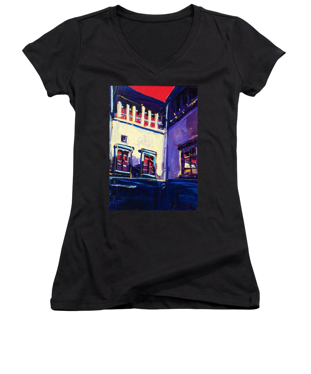 School Women's V-Neck (Athletic Fit) featuring the painting The School by Kurt Hausmann