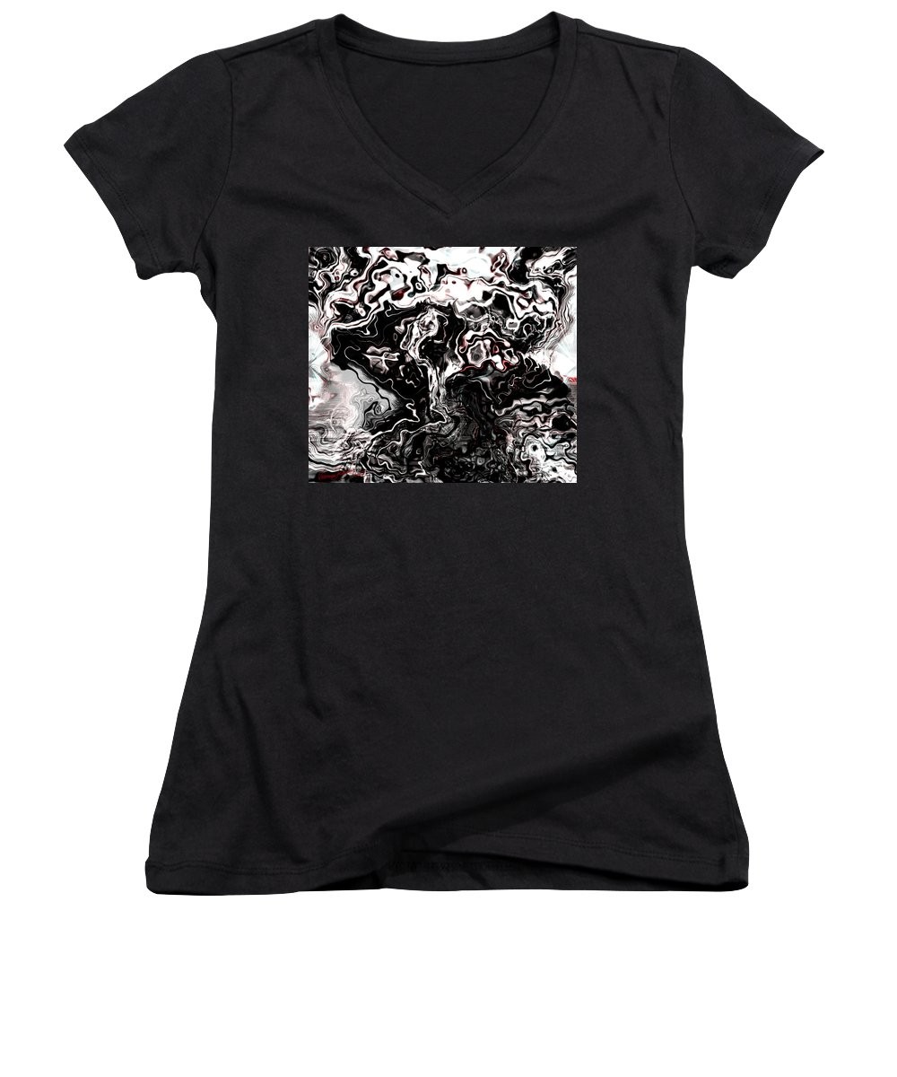 Storm Wind Clouds Nature Wind Women's V-Neck T-Shirt featuring the digital art The Storm by Veronica Jackson