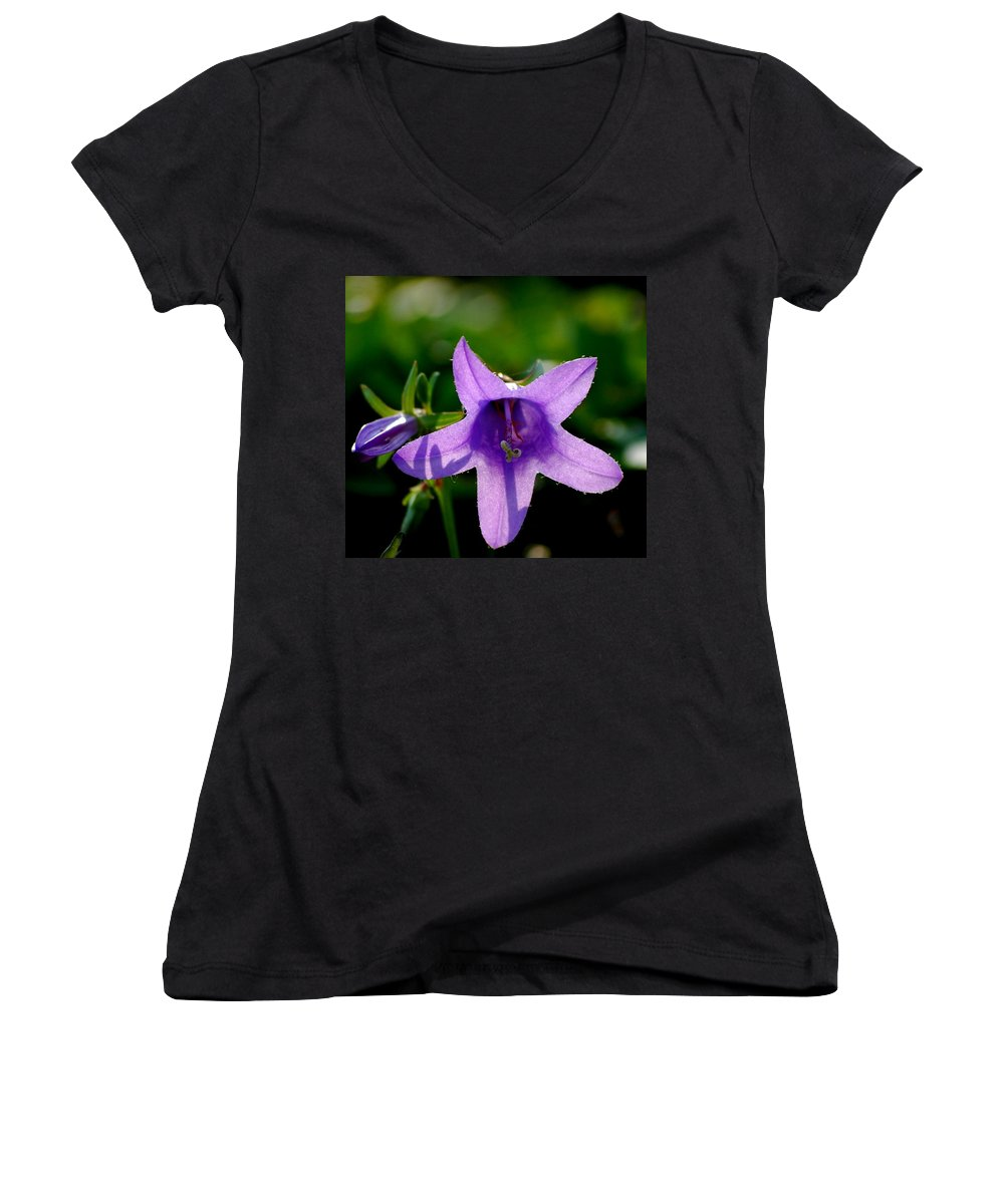 Digital Photography Women's V-Neck T-Shirt featuring the digital art Translucent by David Lane
