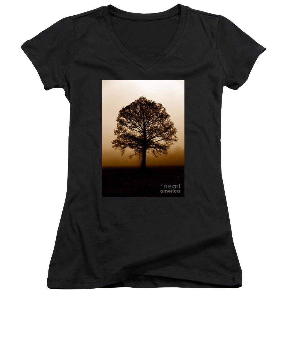Trees Women's V-Neck T-Shirt featuring the photograph Tree by Amanda Barcon