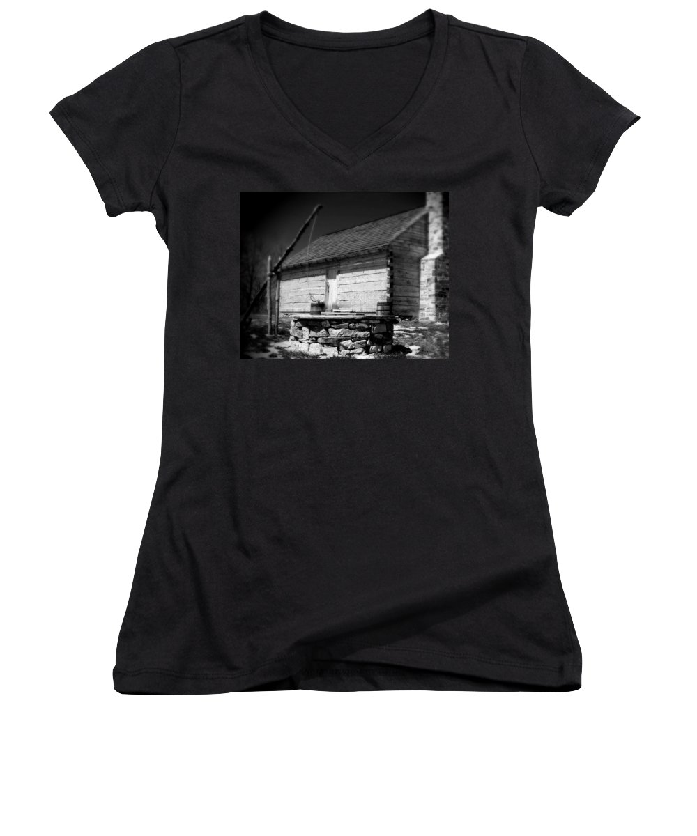 Army Women's V-Neck (Athletic Fit) featuring the photograph Way Station French And Indian War by Jean Macaluso