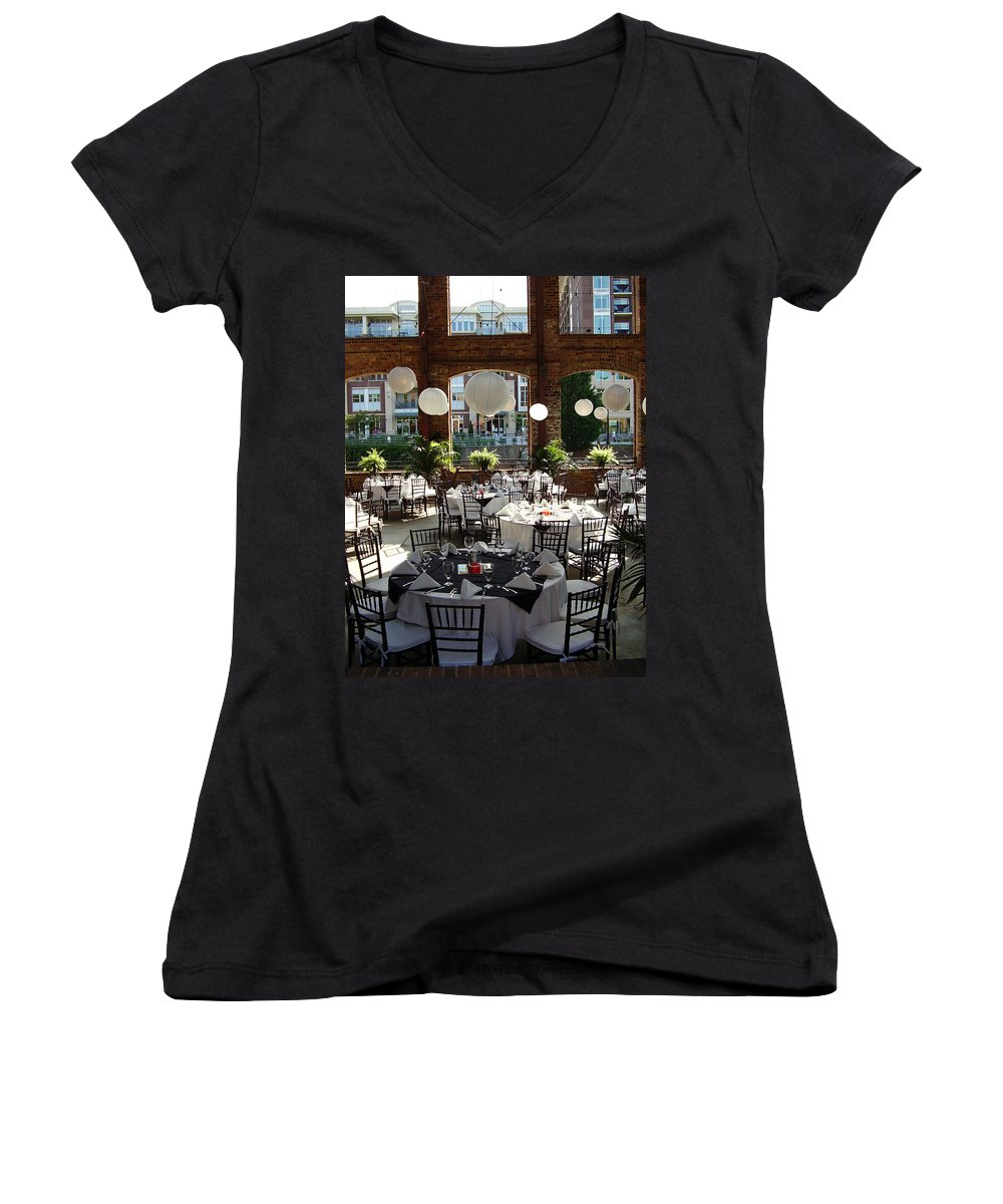 Markley Carriage Women's V-Neck T-Shirt featuring the photograph Wedding by Flavia Westerwelle