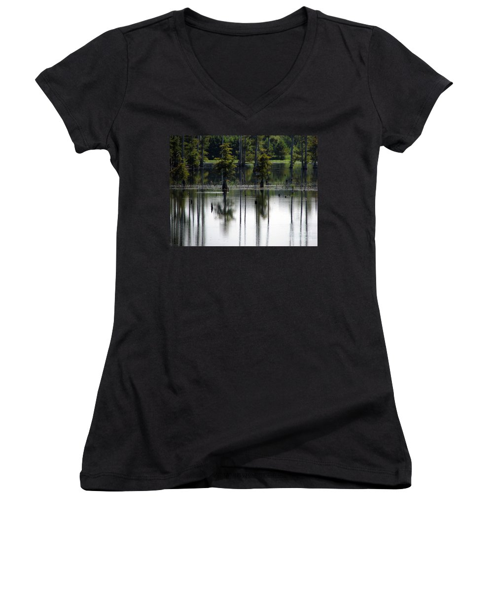 Wetlands Women's V-Neck T-Shirt featuring the photograph Wetland by Amanda Barcon