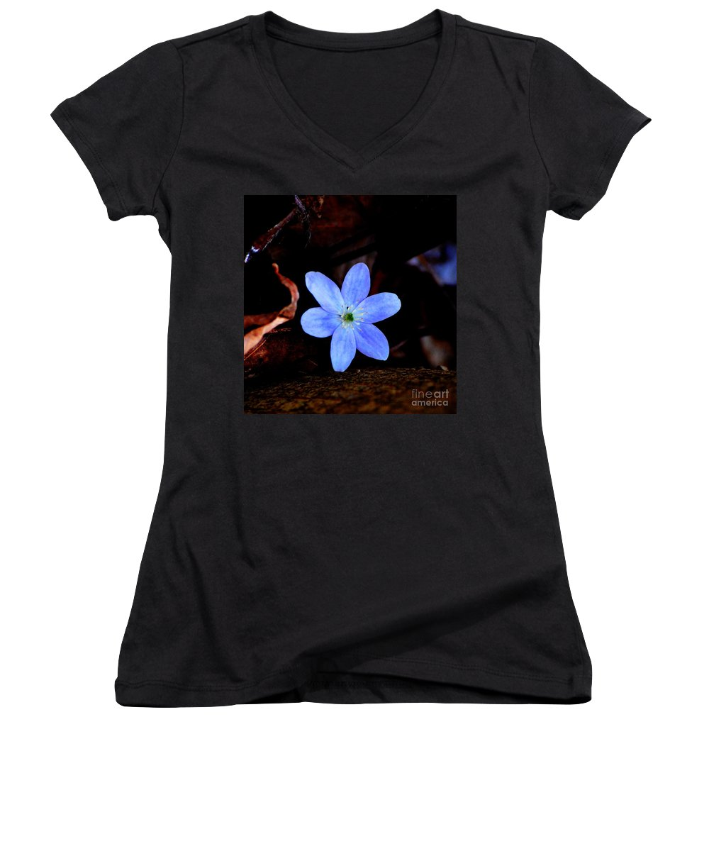 Digital Photo Women's V-Neck (Athletic Fit) featuring the photograph Wild Blue by David Lane