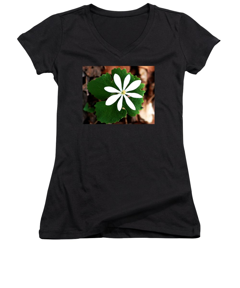Digital Photo Women's V-Neck (Athletic Fit) featuring the photograph Wild White by David Lane