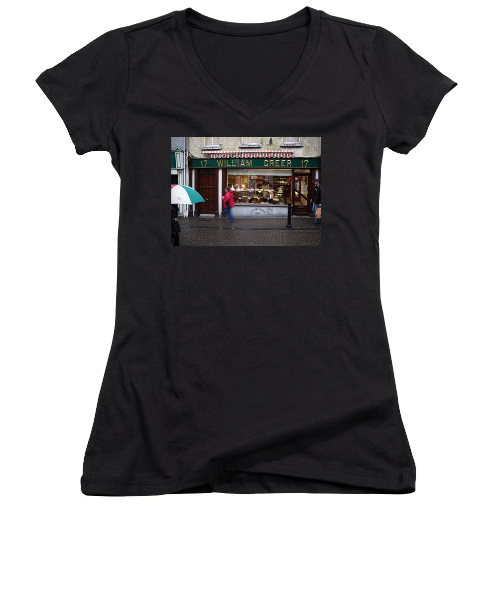 Ireland Women's V-Neck T-Shirt featuring the photograph William Greer by Tim Nyberg