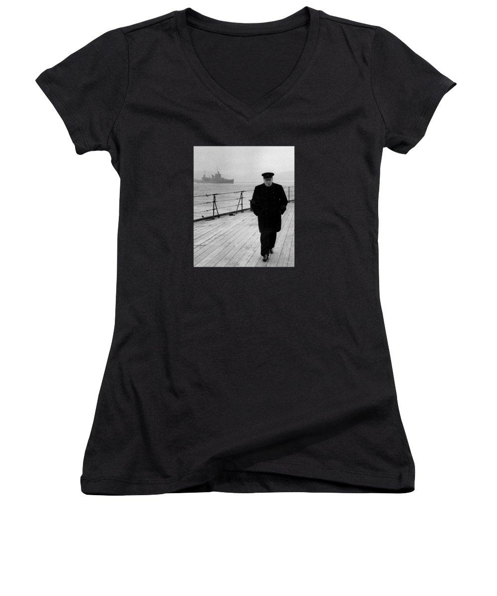 Military Women's V-Neck T-Shirts