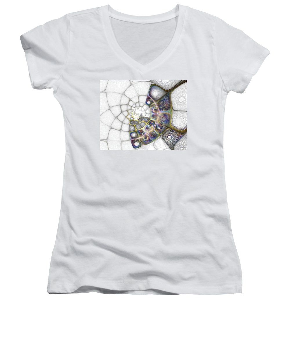 Digital Art Women's V-Neck (Athletic Fit) featuring the digital art Memories by Amanda Moore