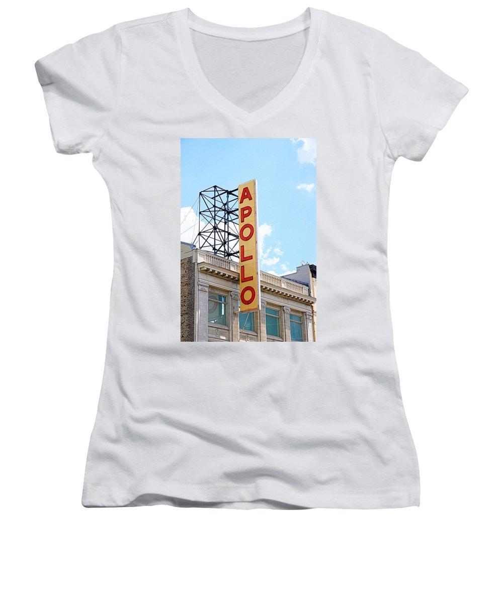 Apollo Theater Junior V-Neck T-Shirts