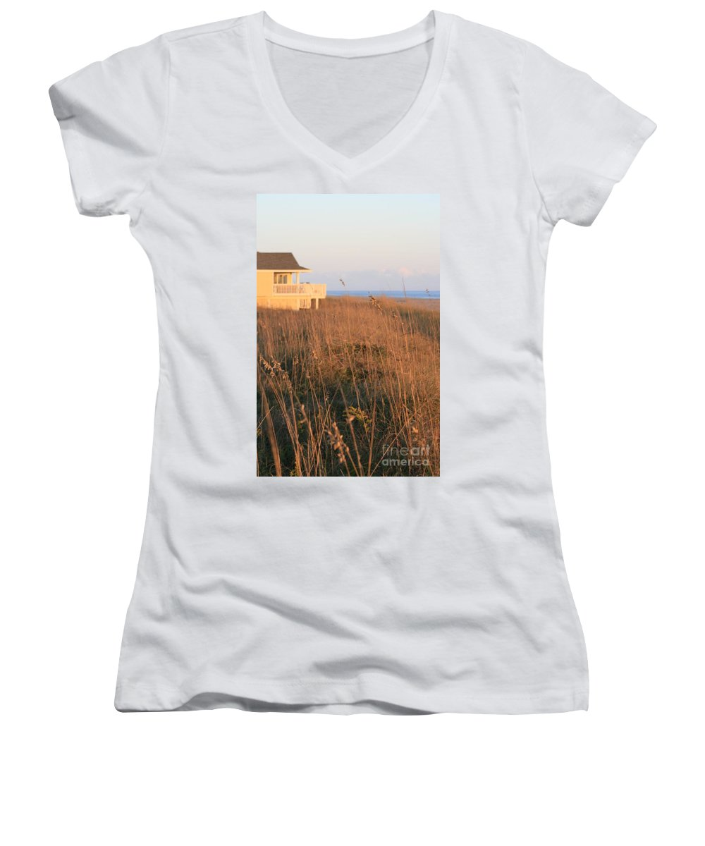 Relaxation Women's V-Neck (Athletic Fit) featuring the photograph Relaxation by Nadine Rippelmeyer