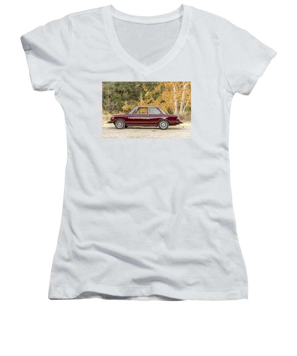 Bmw 2 Series Women's V-Neck featuring the photograph Bmw 2 Series 1 by Jackie Russo