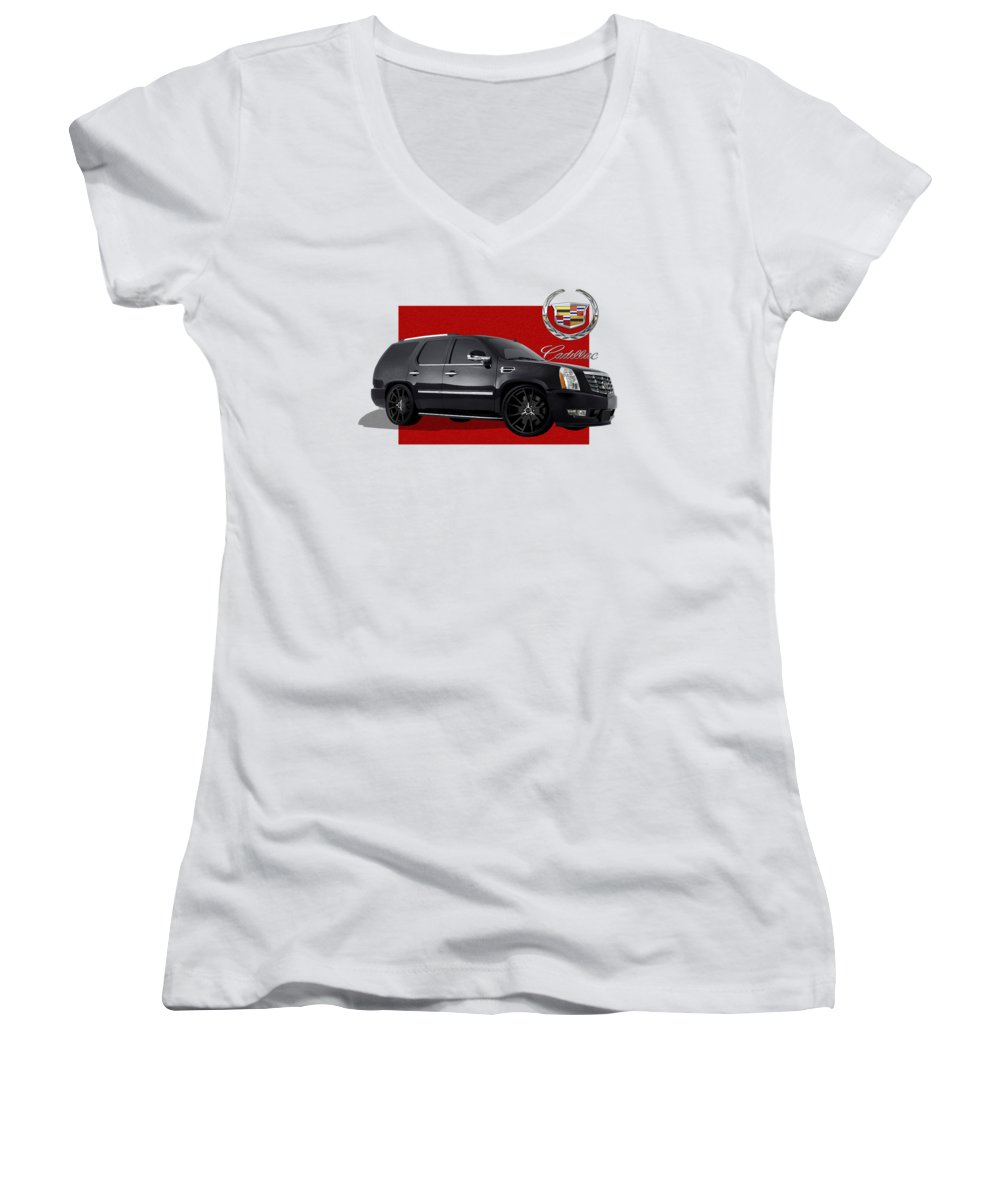Cadillac Women's V-Neck T-Shirts