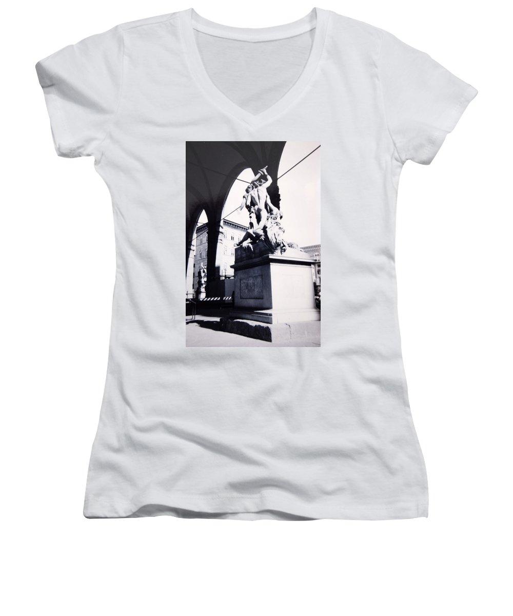 Firenze Women's V-Neck T-Shirt featuring the photograph Florence by Kurt Hausmann