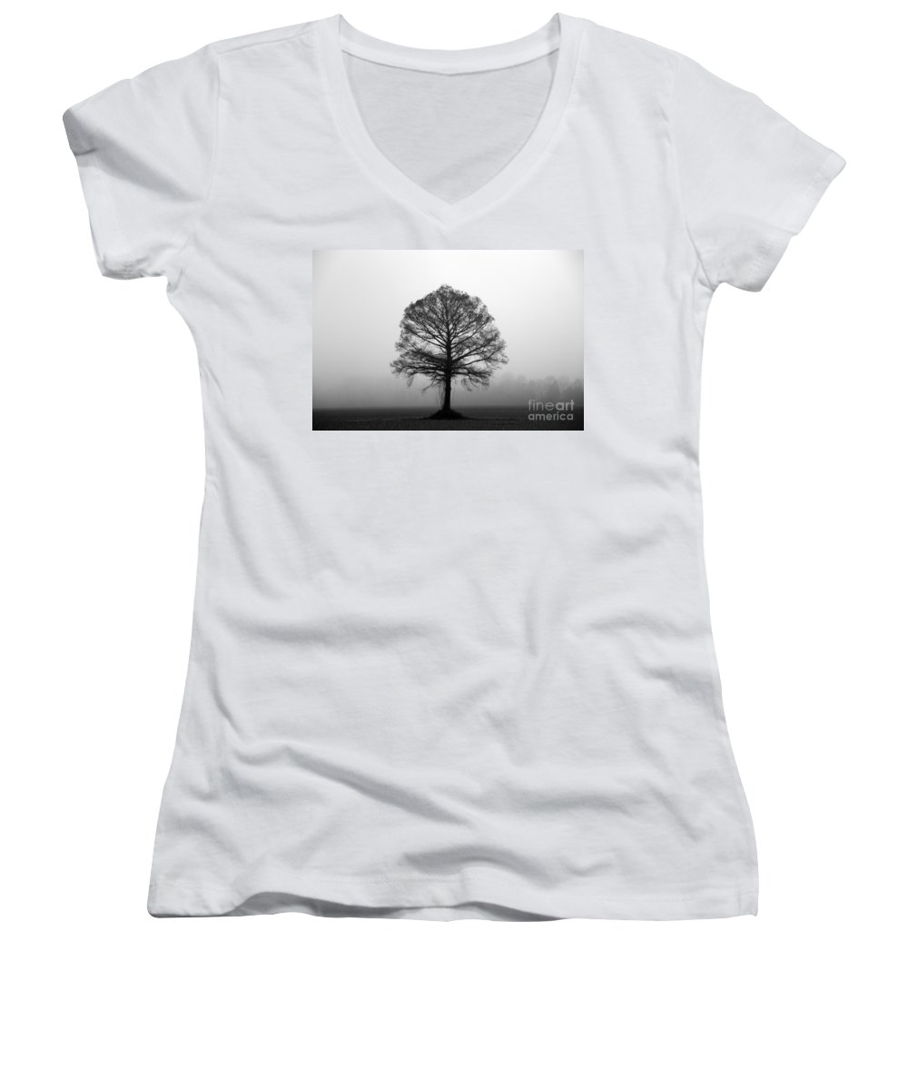 Tree Women's V-Neck (Athletic Fit) featuring the photograph The Tree by Amanda Barcon
