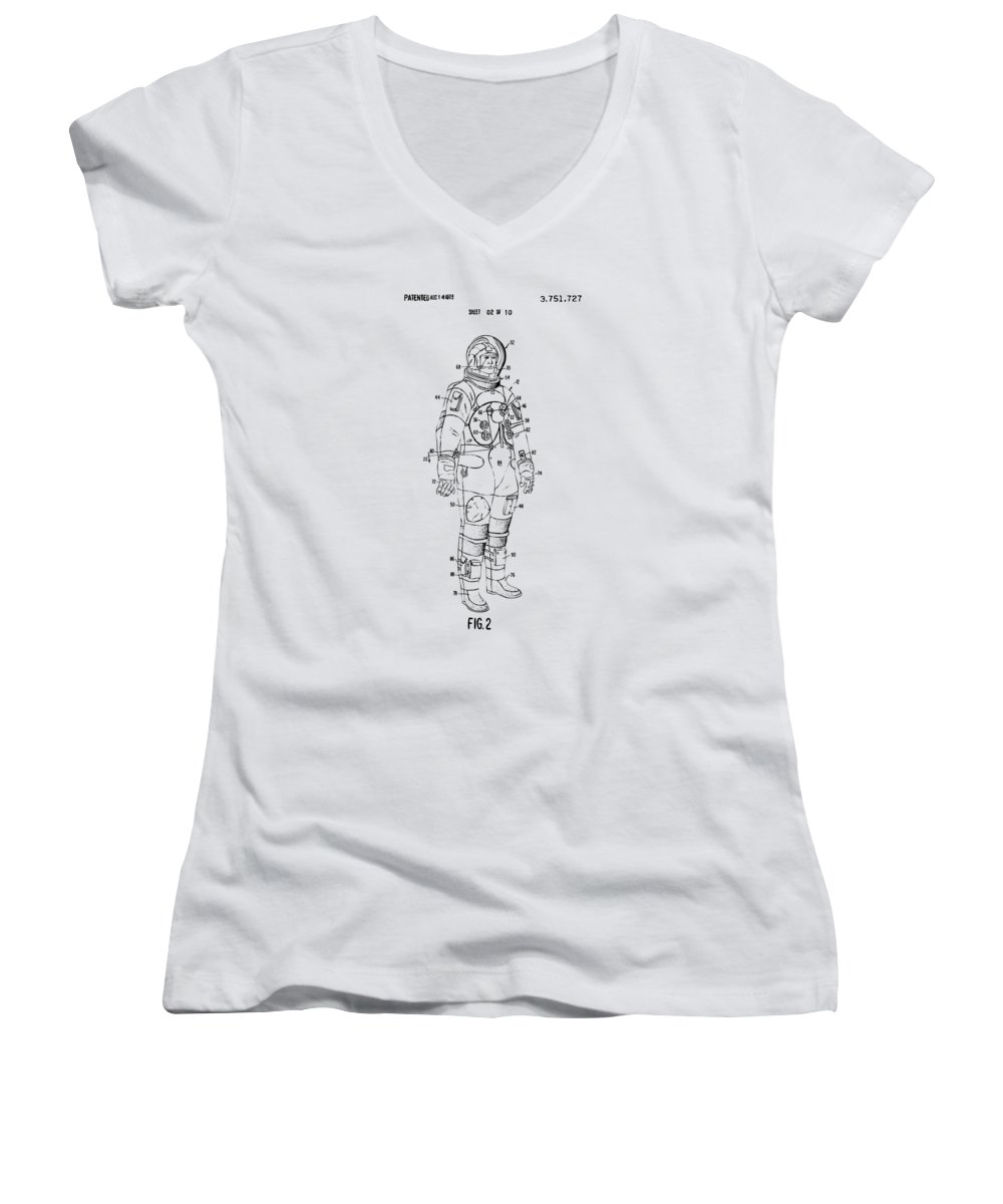Space Ships Junior V-Neck T-Shirts