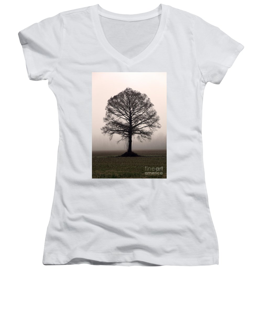 Trees Women's V-Neck T-Shirt featuring the photograph The Tree by Amanda Barcon