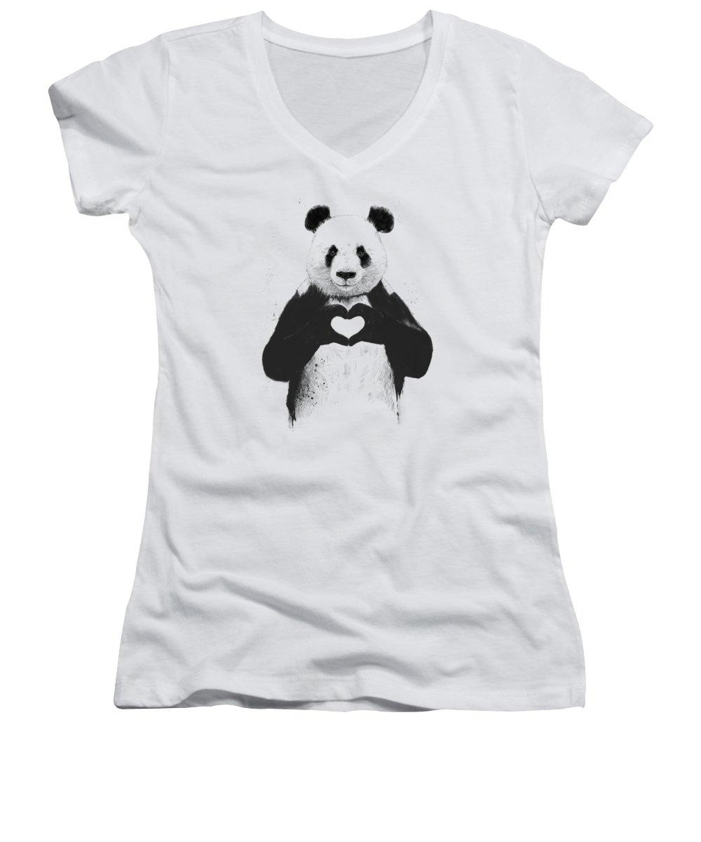 American Landmarks Women's V-Neck T-Shirts