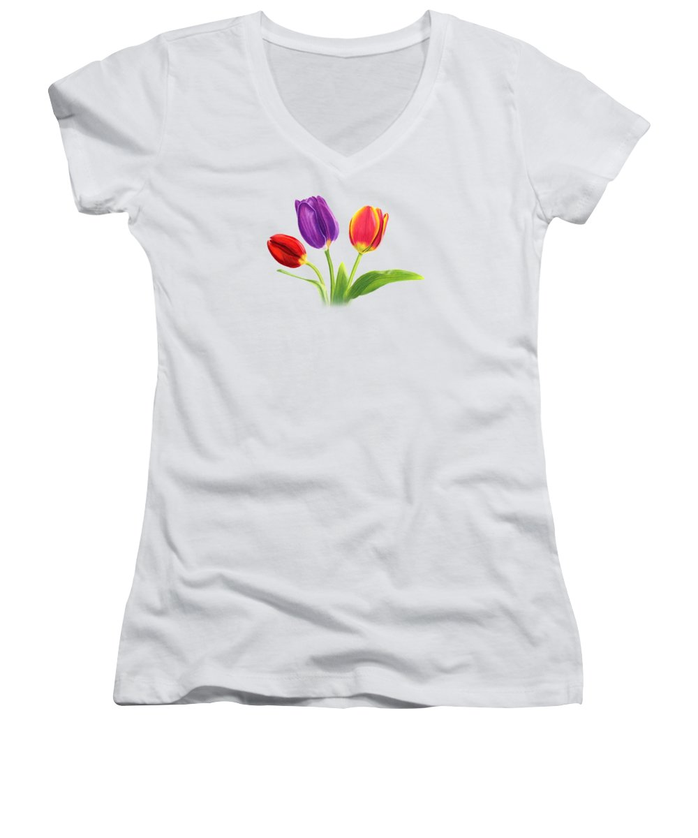 Tulip Women's V-Neck T-Shirts
