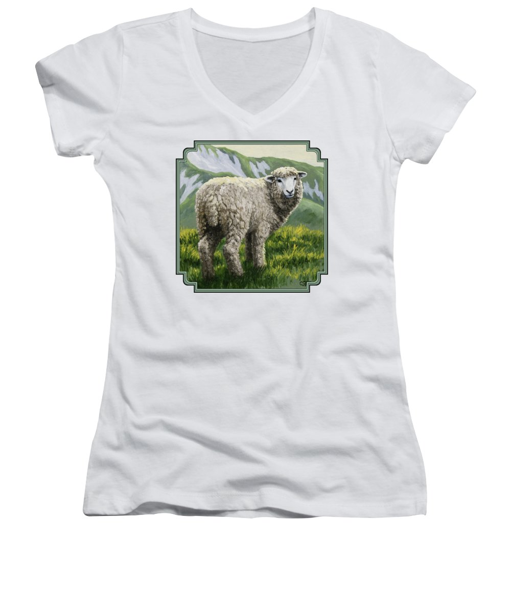 Sheep Women's V-Neck T-Shirts