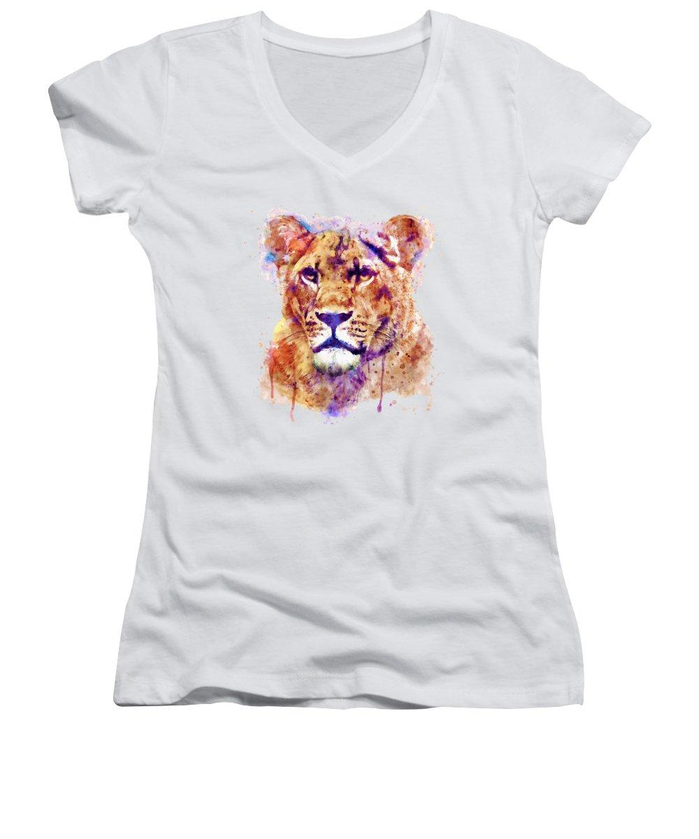Light Paint Junior V-Neck T-Shirts