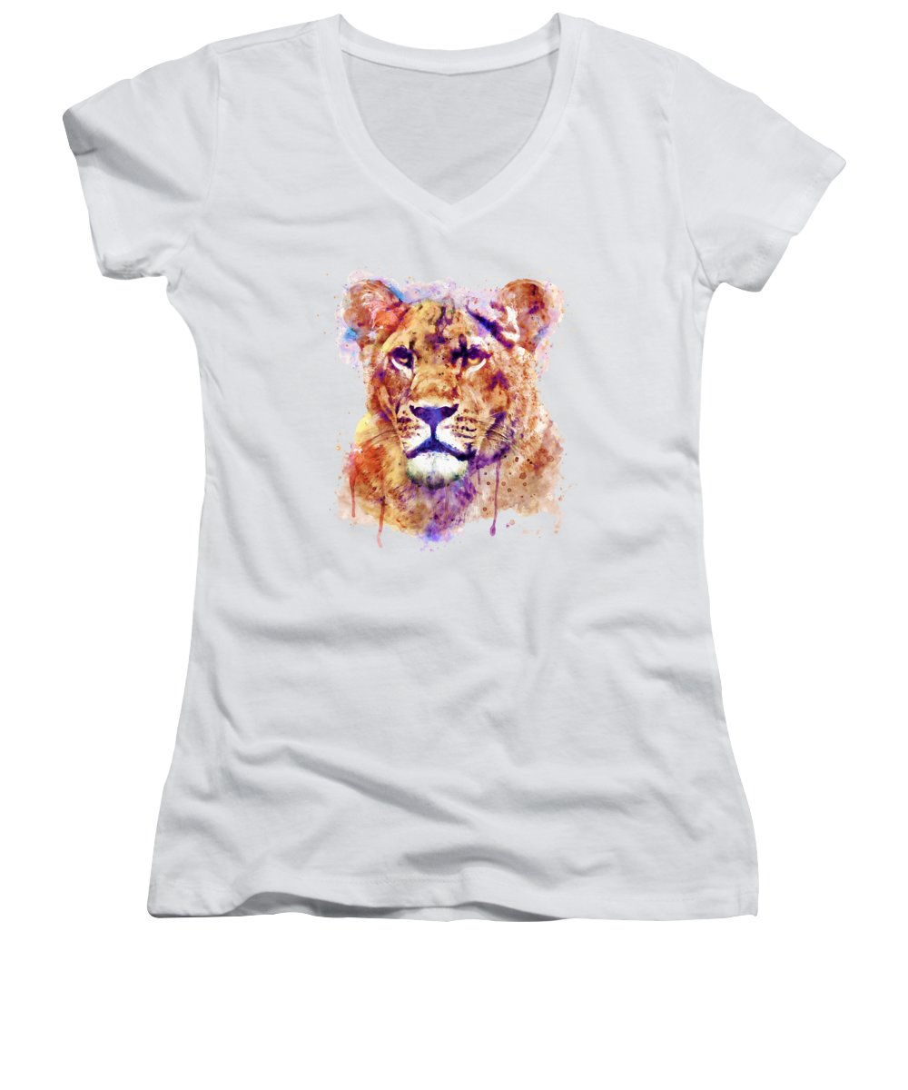 Light Paint Women's V-Neck T-Shirts