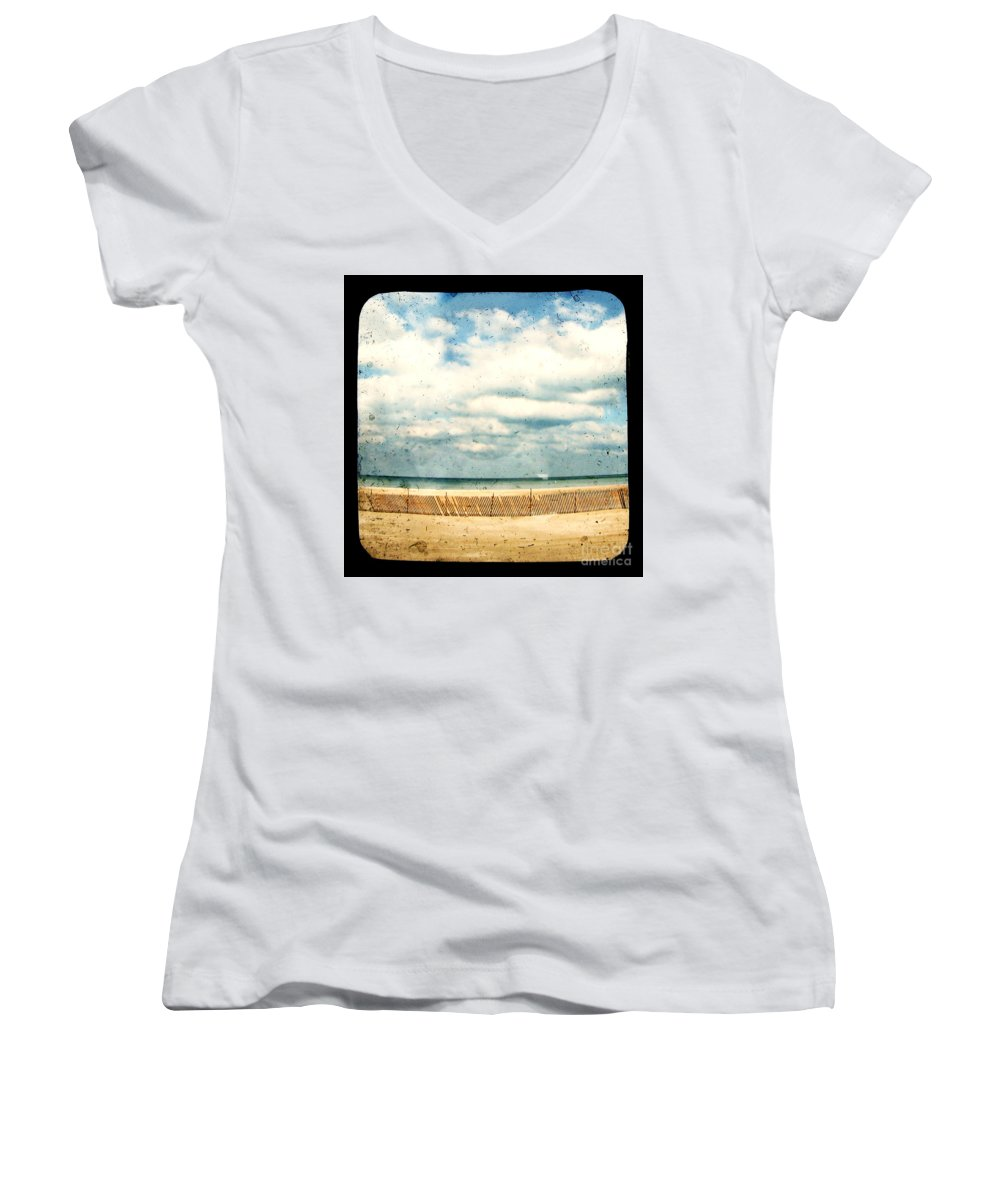 Ocea Women's V-Neck T-Shirt featuring the photograph At Rest by Dana DiPasquale