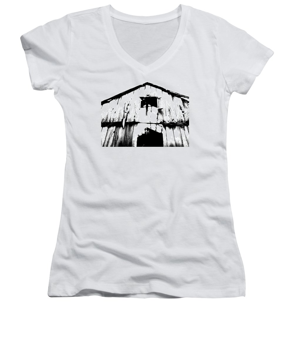 Barn Women's V-Neck (Athletic Fit) featuring the photograph Barn by Amanda Barcon
