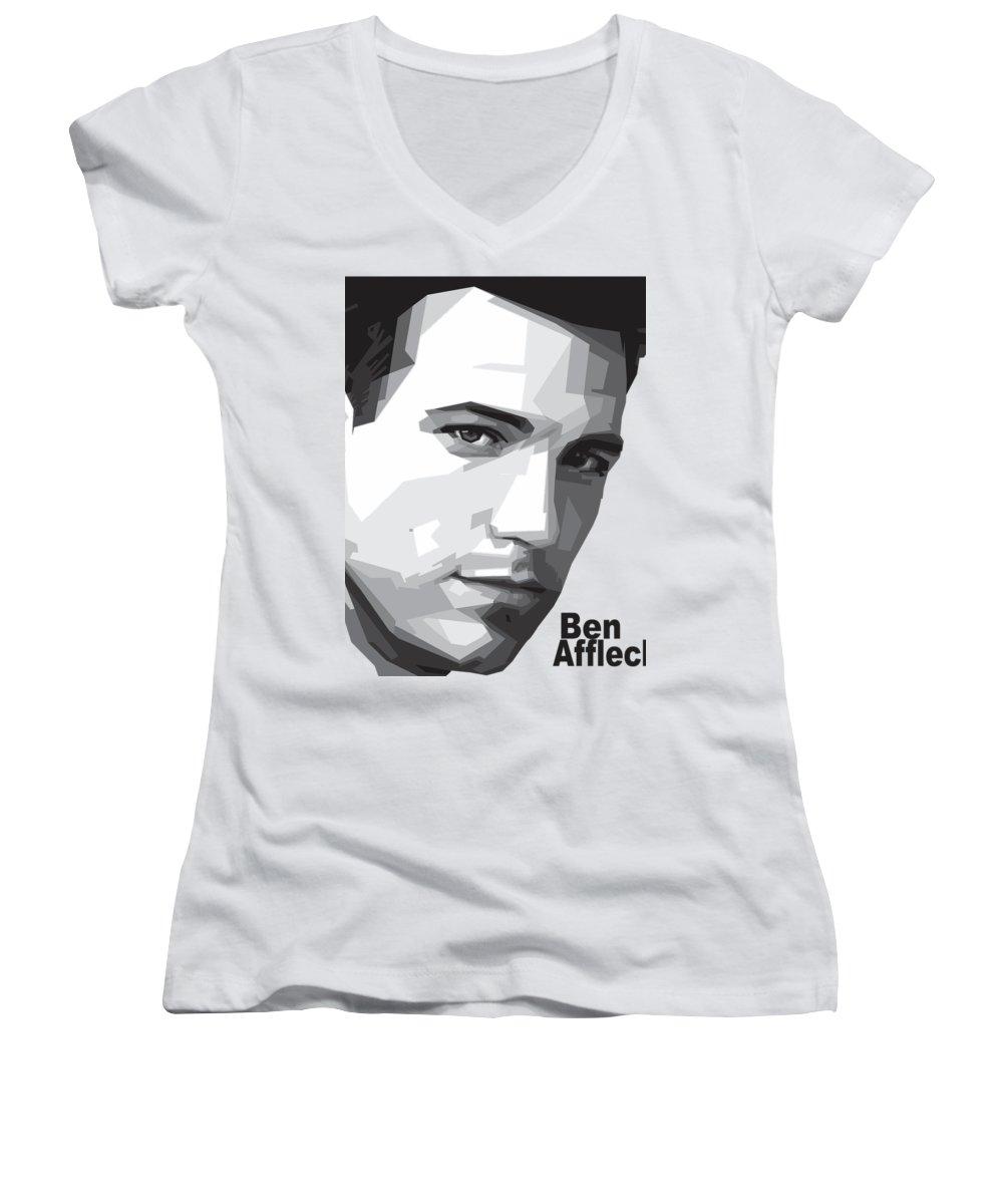 Ben Affleck Women's V-Neck T-Shirts