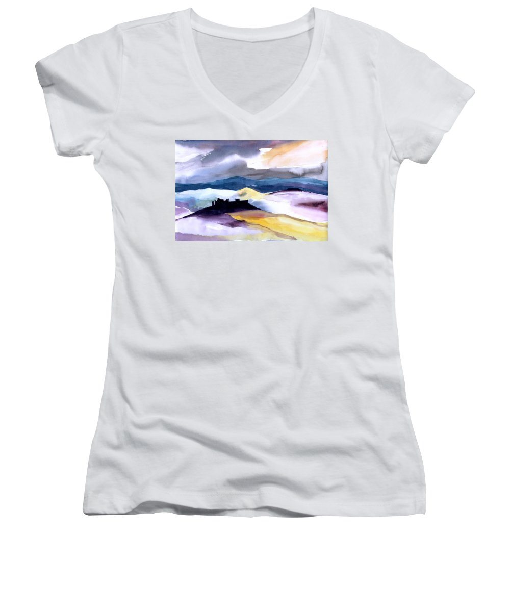 Water Women's V-Neck (Athletic Fit) featuring the painting Castle by Anil Nene