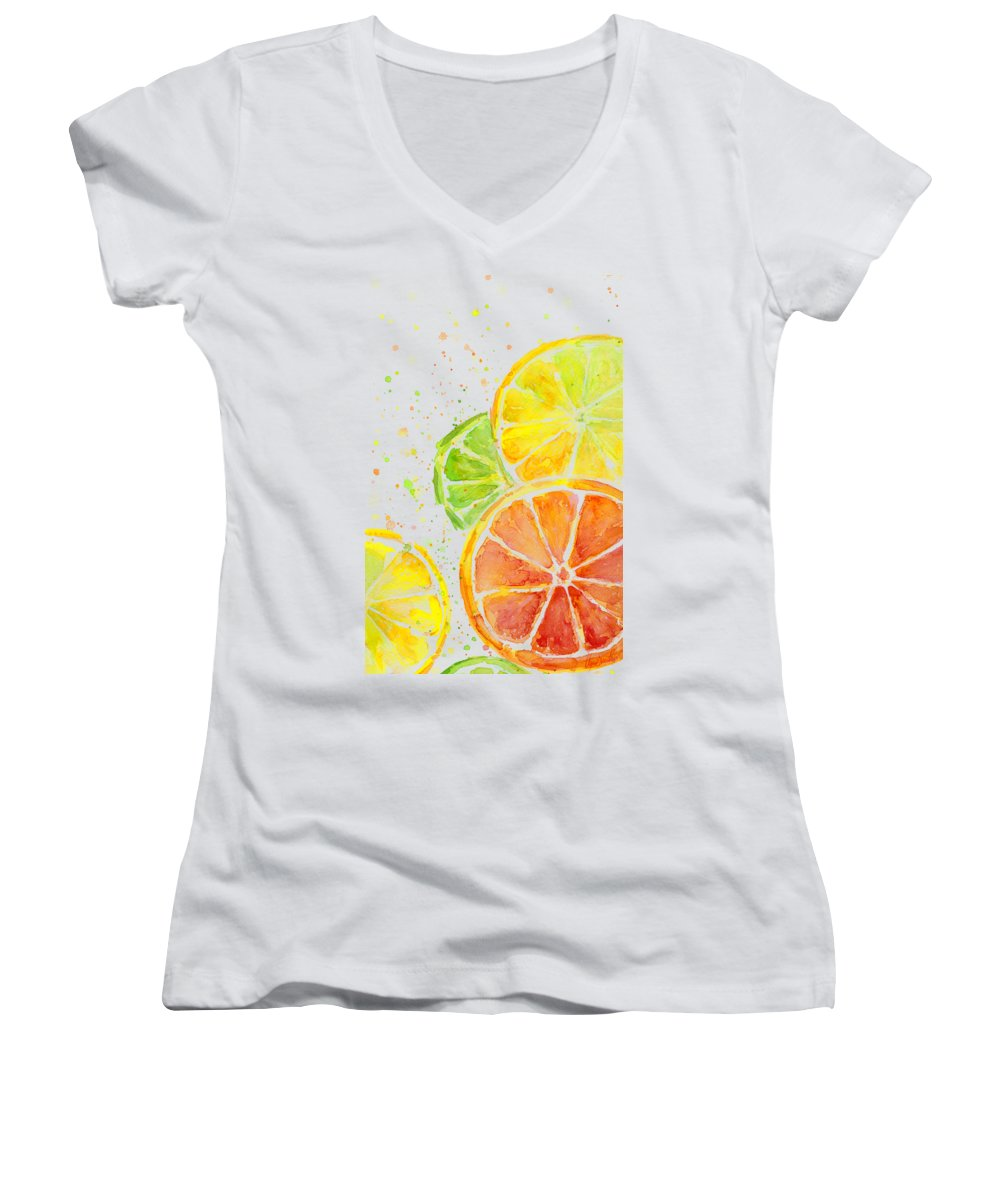 Lime Junior V-Neck T-Shirts