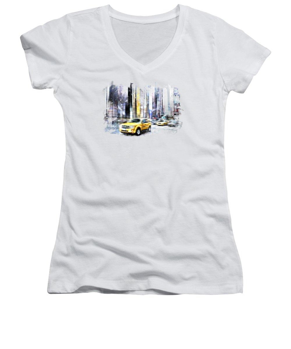 Times Square Junior V-Neck T-Shirts