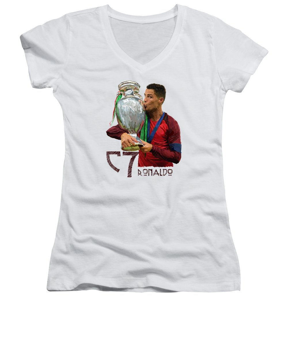 Cristiano Ronaldo Junior V-Neck T-Shirts