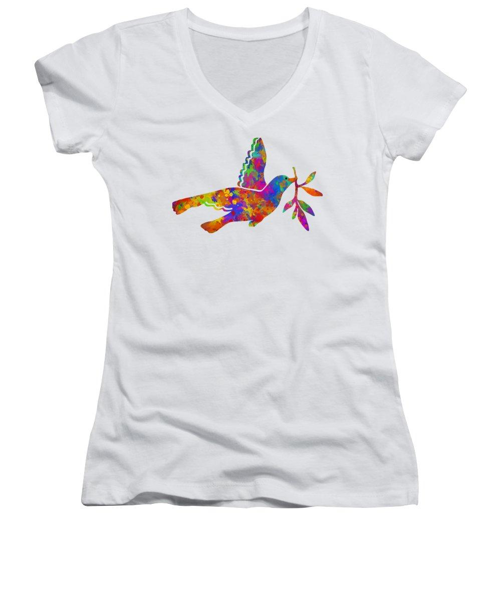 Dove Women's V-Neck T-Shirts